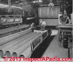 Transite pipe being made (C) D Friedman (Rosato)