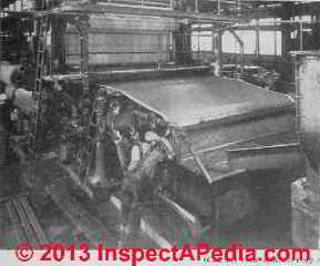 Asbestos cement pipe manufacturing machine - Rosato (C) InspectApedia