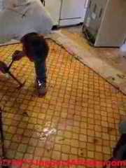 Asbestos suspect flooring from 1978 (C) InspectApedia PC