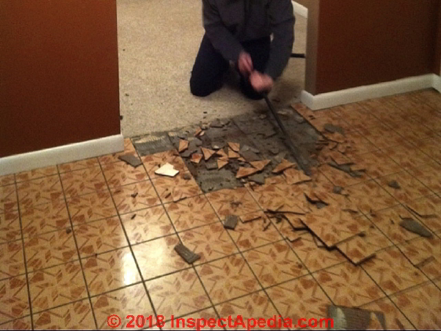 Improper Removal Of An Asbestos Floor Tile Installation C Inspectapedia Reader Photo