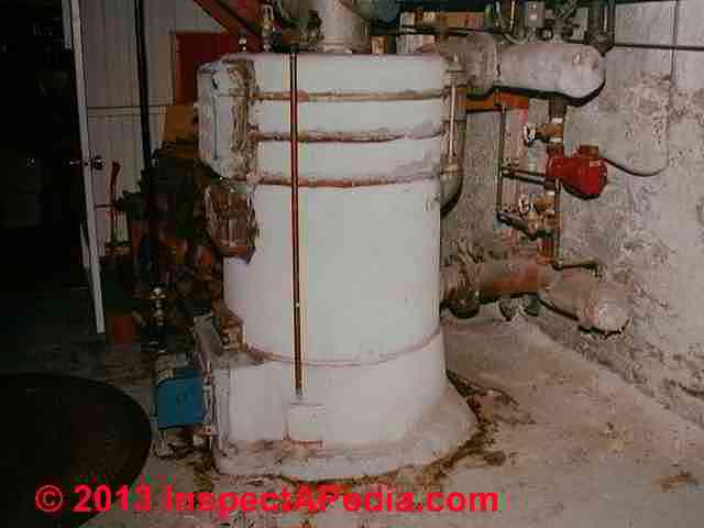 Asbestos Insulation on Heating Boilers