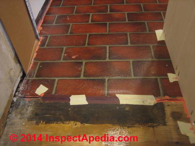 Brick Pattern Vinyl Sheet Flooring From 1973 Containing Asbestos In Mastic C