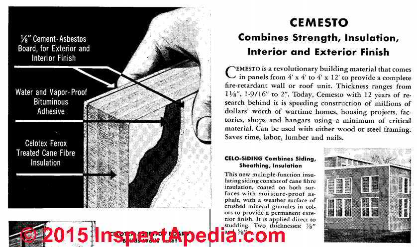Celotex insulating products believed to contain asbestos for Fiberboard roof sheathing