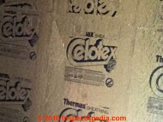 Celotex Thermax TM Insulating board  (C) InspectApedia.com JW