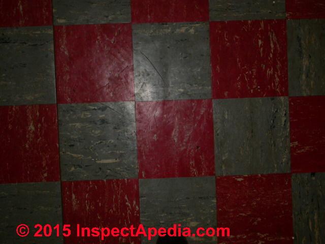 Color Guide To Identify Asphalt Asbestos Vinyl Asbestos Floor Tiles