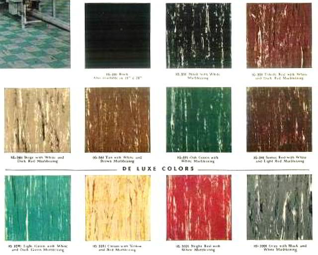Kentile Asphalt Asbestos Floor Tile Patterns