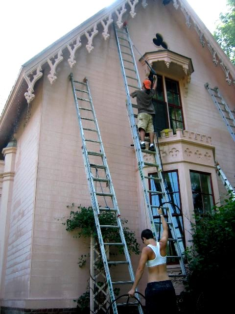 Lead paint removal basic advice methods safety hazards - High build exterior paint set ...