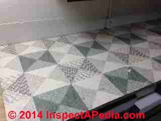 Linoleum-like floor covering - linoleum rug (C) InspectApedia CW