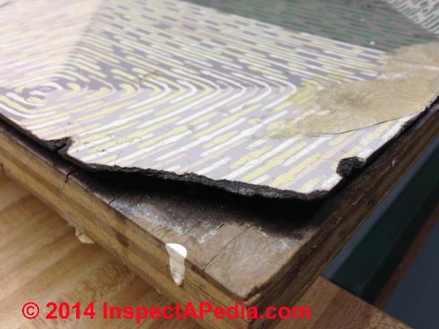 Linoleum Like Floor Covering   Linoleum Rug (C) InspectApedia CW