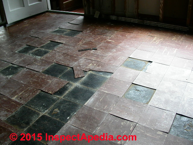 Red Black Armstrong Vinyl Asbestos Floor Tiles 1950 S C Inspectapedia