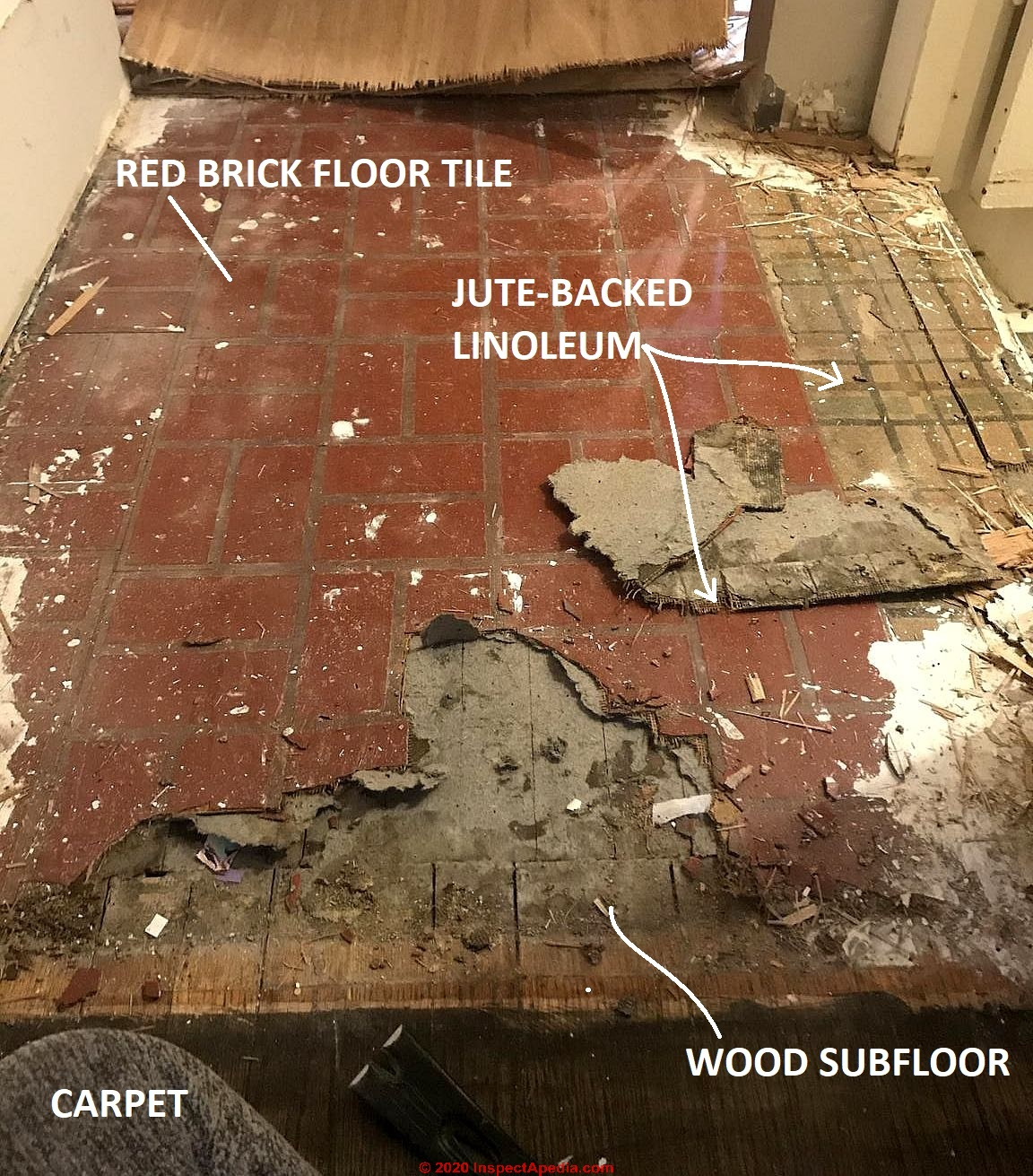 Brick Pattern Sheet Flooring