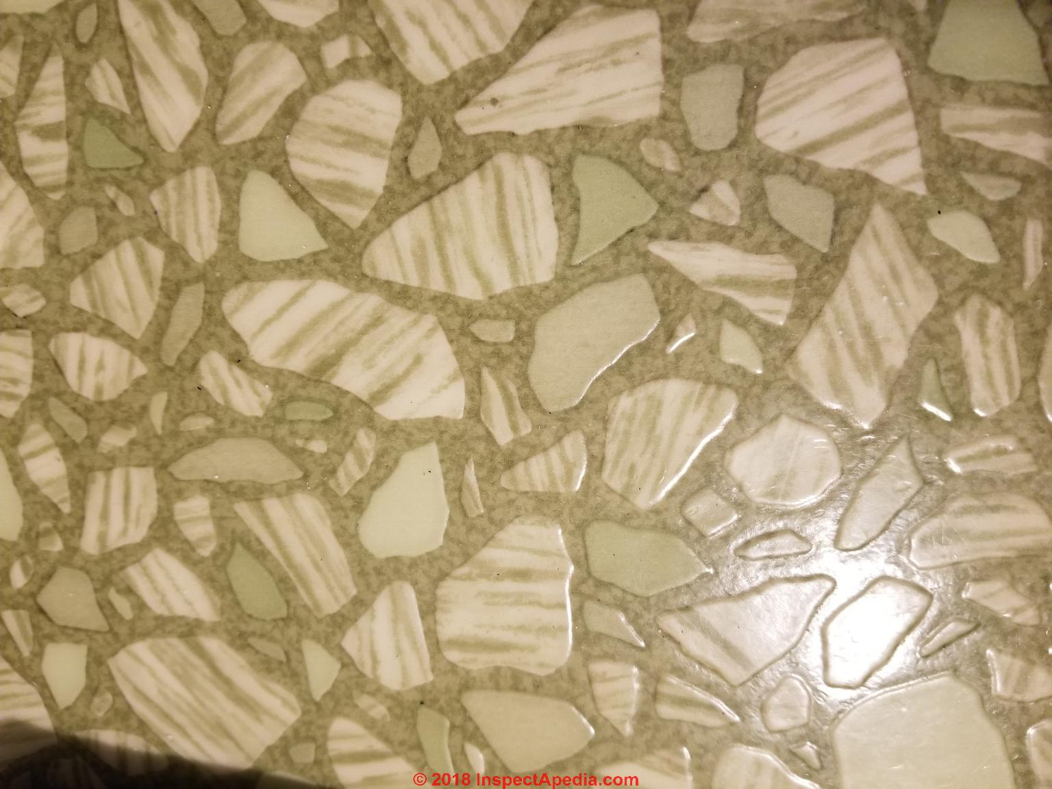 Asbestos floor tile id faqs green stone pattern sheet flooring in a 1940s home c inspectapedia luci dailygadgetfo Images