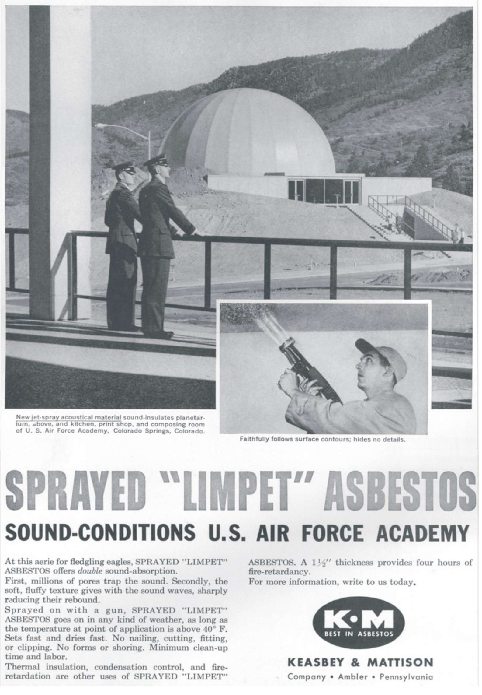 Complete List of forms in which asbestos was used, a list of known