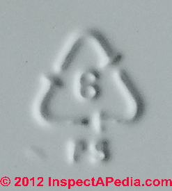 Plastic number codes: Plastic container types, numbering