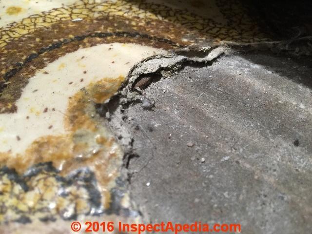 Asbestos containing sheet flooring faqs for Does sheetrock contain asbestos