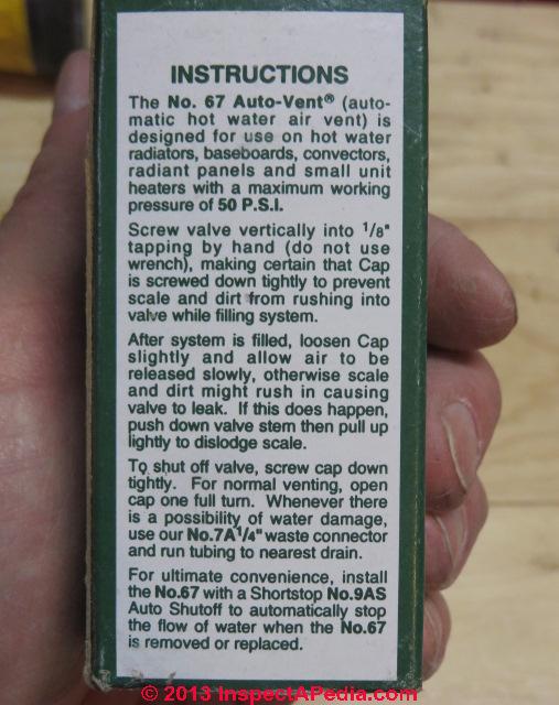 Radiator Not Getting Hot >> Hot Water Radiator Air Bleed Vent Repair Guide Diagnostic ...