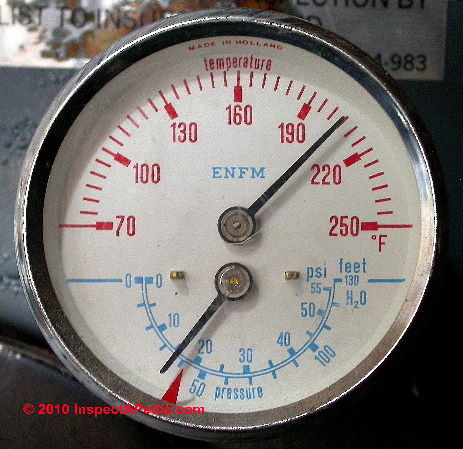 Boiler Gauges, how to read the temperature & pressure gauge on a ...