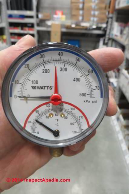 Heating Boiler Gauge Replacement Procedure