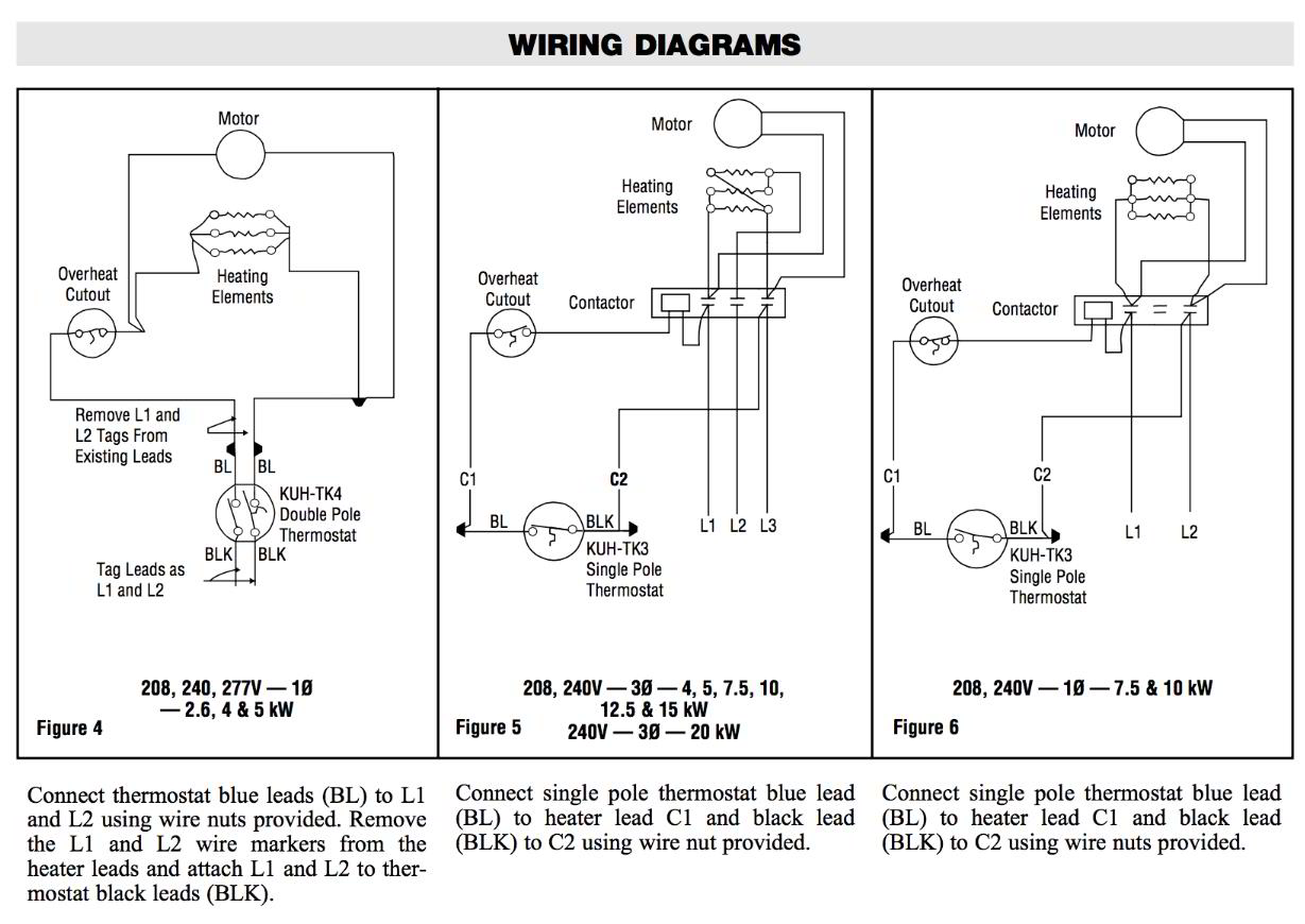 Commercial Wiring Details Room Thermostat Diagrams For Hvac Systems Chromalox Diagram Kuh Tk3 Tk4 See Instructions In The