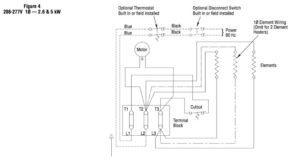 room thermostat wiring diagrams for hvac systems rh inspectapedia com wiring diagram water heater thermostat wiring diagram for electric baseboard heater with thermostat