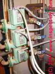 LARGER VIEW of a heating boiler circulator pump set