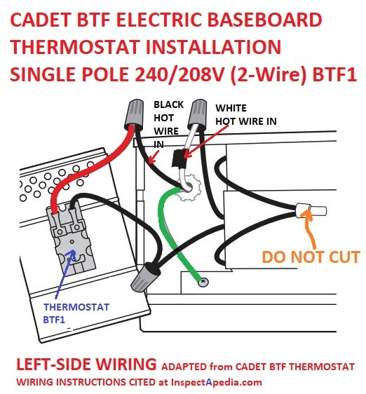 [ZTBE_9966]  Line Voltage Thermostats for Heating & Cooling | 240 Heater Wiring Diagram |  | InspectAPedia.com