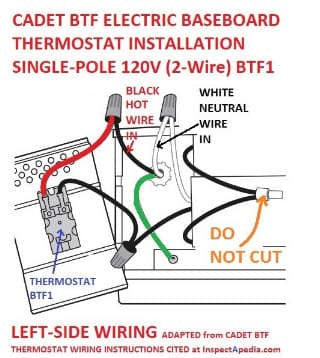 [NRIO_4796]   Line Voltage Thermostats for Heating & Cooling | Cadet Thermostat Wiring Diagram |  | InspectAPedia.com