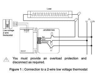 convert line voltage thermostat to low voltage nest. Black Bedroom Furniture Sets. Home Design Ideas