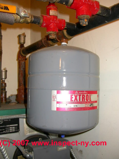 Heating Boiler Expansion Tank Leaks Of Water Or Air