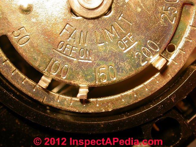 honeywell fan limit switch manual