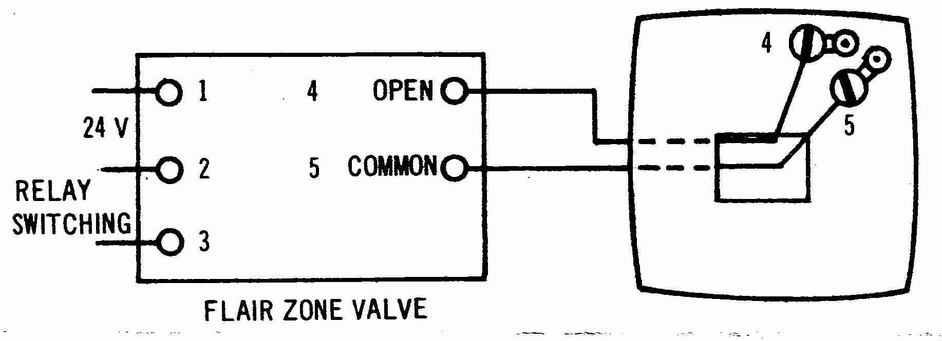 Room Thermostat Wiring Diagrams For Hvac Systems Thermat Evcon Flair 2 Wire Thermosat Diagram