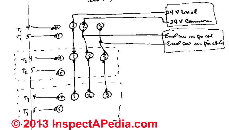 zone valve wiring installation instructions guide to heating rh inspectapedia com zone valve wiring schematic zone valve wiring diagram