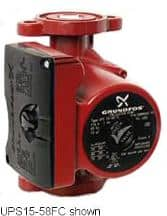 Grundfos variable speed heating zone circulator pump UPS 15-58FC (C) Grundfos InspectApedia