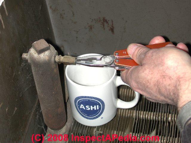 Hot Water Radiator Air Bleed Vent Repair Guide Diagnostic