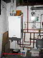 Radiant heat boiler installation, Minneapolis MN (C) Daniel Friedman