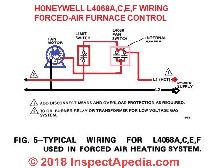 Honeywell L4068 Wiring 101 IAP how to install & wire the fan & limit controls on furnaces honeywell