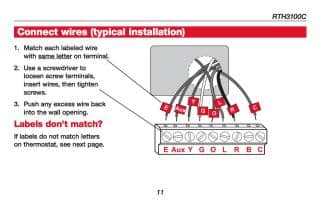 How wire a honeywell room thermostat honeywell thermostat wiring honeywell rth3100c thermostat wiring summary see the installation manual for details or call honeywell cheapraybanclubmaster Choice Image