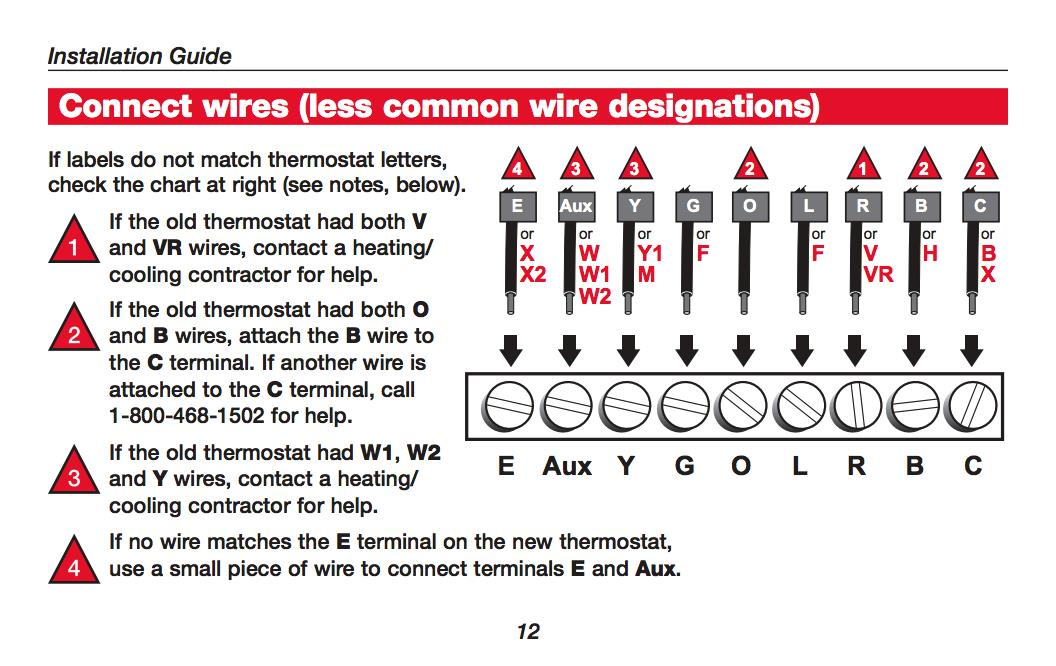 how wire a honeywell room thermostat honeywell thermostat wiring rh inspectapedia com honeywell thermostat wiring diagram 9580 honeywell thermostat wiring diagram 7 wire