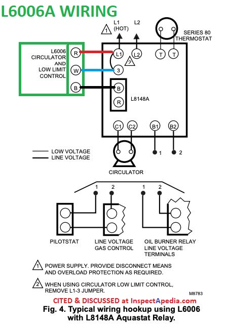 Aquastats: Setting & Wiring Heating System Boiler Aquastat Controls, how to  set the HI limit LO limit and DIFFerential dials on controls like the  Honeywell R8182D Combination Control AquastatInspectAPedia.com