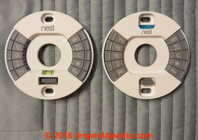Thermostats Nest Learning 2nd generation Thermostat wire base BASE ONLY