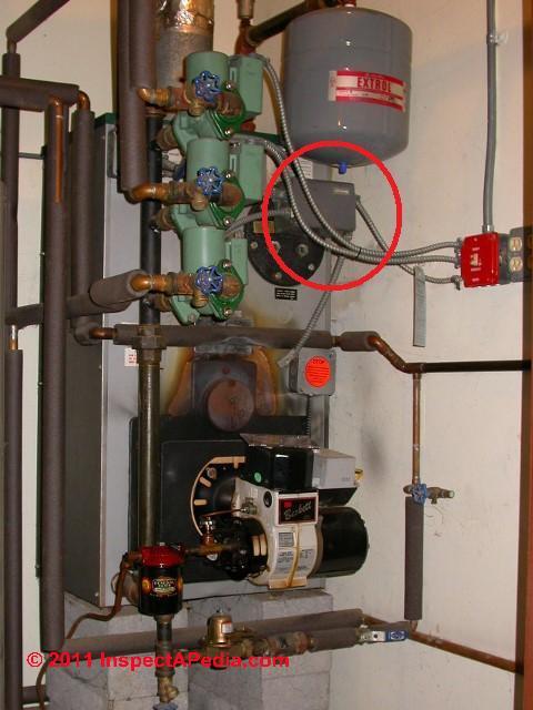 photos of oil boiler aquastat