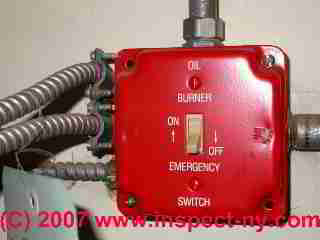 Emergency electrical power OFF switch for heating equipment (C) Daniel Friedman