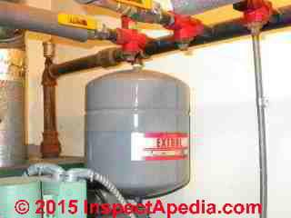 Expansion Tank Compression Tank Air Valve Leak Diagnosis Repair Water Leaks At The Heating System Expansion Tank Air Valve Or Air Vent