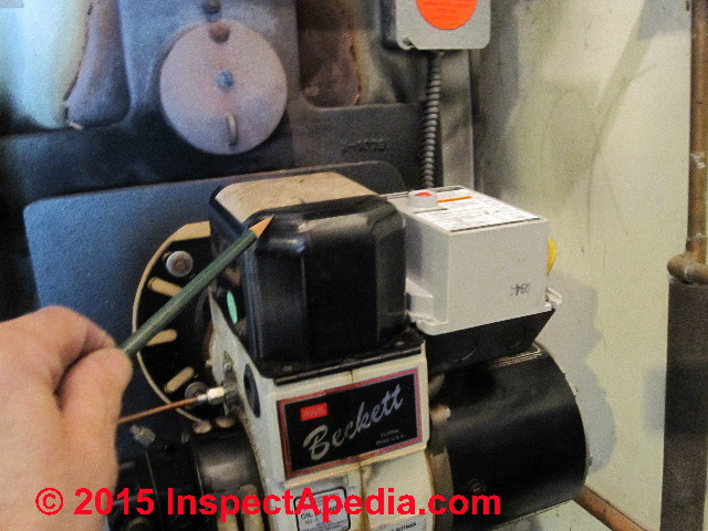 How To Diagnose Oil Burner Noise Smoke Odors Defects Operating. Photograph Of Oil Burner Pointing To The Transformer Used For Ignition C Daniel Friedman. Wiring. Olsen Furnace Wiring Diagram At Eloancard.info