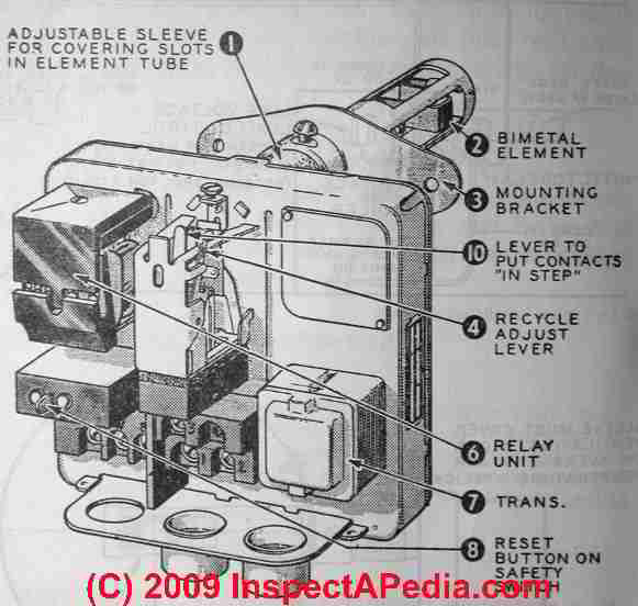 stack relay switches on oil fired boilers furnaces water heaters rh inspectapedia com