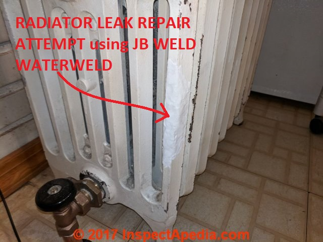Heating Radiator leaks - Heating radiator repairs: how to find and