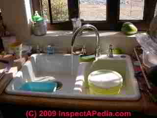 Sink graywater used for irrigation (C) Daniel Friedman