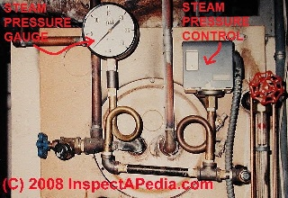 Steam heat boiler basic controls