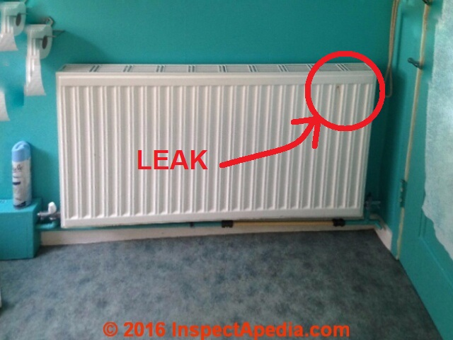 Heating radiator leaks heating radiator repairs how to for Which heating system is best