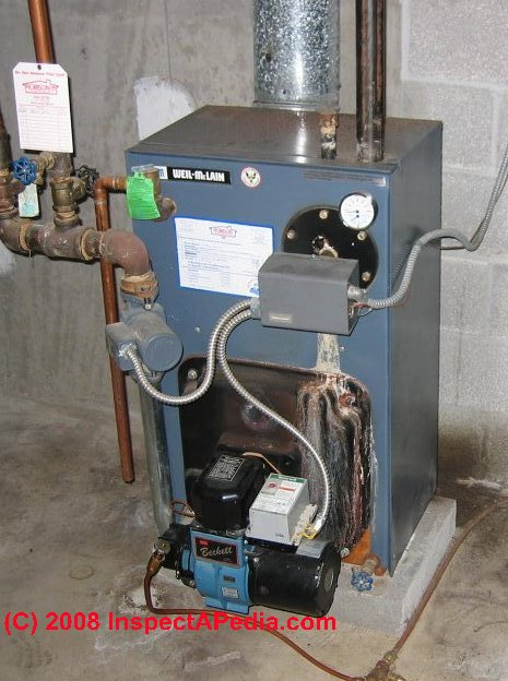 Oil Water Boiler ~ Tankless coil leaks diagnose repair at hot water